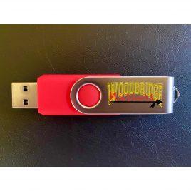 1 Gig (Red) Warrior USB Thumb Drives (2.25″)