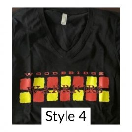 T-Shirt  Style 4 – Available in Women's V Neck
