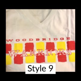 T-Shirt  Style 9 – Available in Women's V Neck