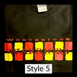 T-shirt Style 5 – Available in Unisex Crew
