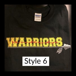 T-shirt Style 6 – Available in Unisex Crew